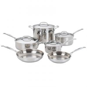 Cuisinart 7710 10-Pc Stainless Steel Set 15 Qt Saucepan with cover 3 Qt - Saucepan