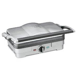 Cuisinart GR-35 Griddler, Compact Griddle Panini GP35, Reverse Non Stick Cooking Plates, Full or Half Grill or Griddle, Washer Safe, Manual & Recipes