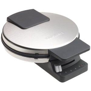 Cuisinart WMR-CA WAF Round Classic Waffle Maker Bakes One Large Traditional-Style Waffle, 5 Setting Brown Control