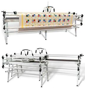 "Janome 1600P-QC +Grace GQ 60-120"" King Metal Quilting Frame +4 Extras, Grace Gracie King 122"" Queen 87"" & Crib 51"" Quilting Frame PLUS Janome 1600P DBX Demo Sewing Machine & FREE Pushbutton Speed Control Box, 3 Prong Plug"