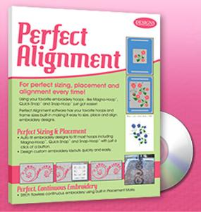 CD00201 Designs in Machine Embroidery Perfect Alignment Embroidery Sizing, Placement and Alignment Software