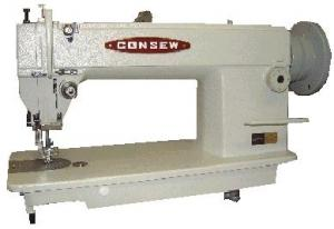 Consew 205RB Walking Foot, Top and Bottom Feed Upholstery Sewing Machine with Power Stand