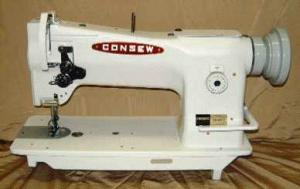 Consew 206RB5 Walking Foot Needle Feed Industrial Sewing Machine 206RB-5, Safety Clutch, Lg. M Bobbin, 9/16 Foot Lift, ASSEMBLED Power Stand 3300RPM