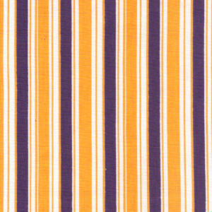"Fabric Finders 15 Yd Bolt 9.34 A YdT17 Gold, Purple, And  White Stripe100% Pima Cotton 60"" Fabric"