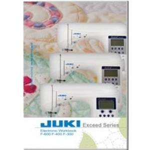 Juki Exceed Printed Work Book for HZL F300, F400, F600 Sewing Machines