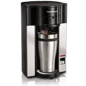 Hamilton Beach 49990 Personal Cup Stay or Go Pod Brewer, Balanced Brew Time, Easy Fill Reservoir, Front Access Basket, Dripe Free, Auto Shut Off