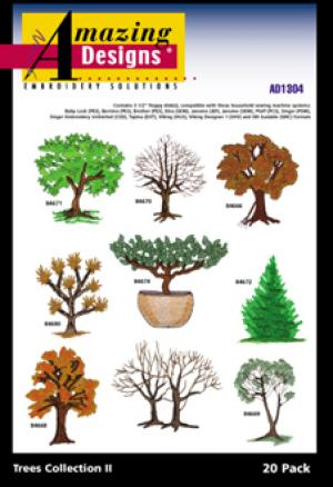 Amazing Designs / Great Notions 1304 Trees Collection II  Multi-Formatted CD