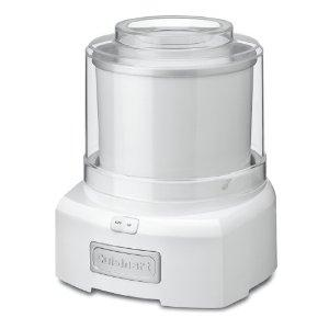 Cuisinart ICE-21 ICE AUTO Frozen Yogurt, Ice Cream, Sorbet Maker, Desserts, Drinks, 1.5Qt 20 Min, Lock Lid, Large Spout, Double Insulated Freezer Bowl
