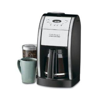 "Cuisinart DGB-550BK Grind & Brew 1-4-12 Cup Coffeemaker 12x10x17"", 60oz Glass Carafe, Uses Whole Beans, 24Hr Timer, Brew Pause, Auto Off, Water Filter"