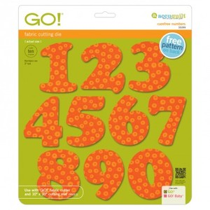 "AccuQuilt Go! 55099 Carefree Numbers Die Finish Size 3""High 2.5""Width"