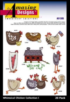 Amazing Designs / Great Notions 1305 Whimsical Chicken Collection I Multi-Formatted CD
