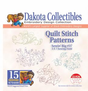 31414: Dakota Collectibles 970400 Quilt Stitch Patterns Sewin Big #37 Designs CD