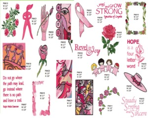 Amazing Designs ADC-21 Power of Pink I, Multi-Format CD-ROM: ART, BLF, CSD, DST, EMD, EXP, HUS, JEF, PCS, PES, SEW, SHV, VIP, XXX