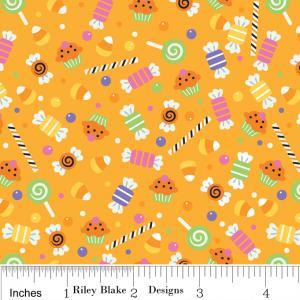 """Riley Blake Designs C2532 OrangeTrick or Treat  Candy 15Yd Bolt6.60 A Yd100%Cotton Pattern45""""Fabric"""