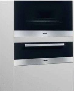 "Miele ESW4726 Convection Warming Drawer, 27"", Europa Series, Prefinished, Black Glass & Stainless Steel"