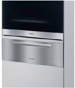 "Miele ESW4826 Convection Warming Drawer, 30"", Europa Series, Prefinished, Black Glass & Stainless Steel"