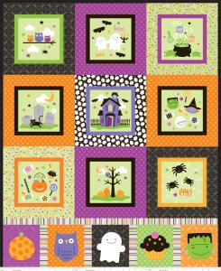 "Riley Blake Designs 15Yd Bolt 7.34 A Yd C2538 Multi Trick or Treat Panel 100% Cotton  45""Fabric"