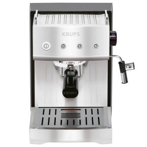 Krups XP5280 Programmable Precise Tamp Coffeemaker Espresso Machine, Stainless Steel, Cake Ejector, Milk Frother, 1 Cup Single & 2 Cup Double, 13.6Lbs