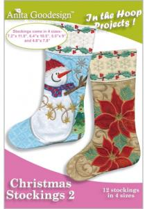 Anita Goodesign 119MAGHD Christmas Stockings 2 Embroidery Designs CD
