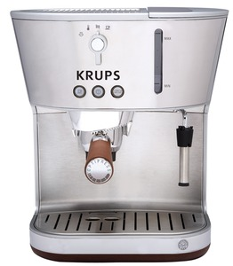 Krups, XP4600, Silver, Art, Espresso, Machine, Precise, Tamp, Thermoblock, System, 15, Bar, Pump, Programmable, Universal, Filter, Holder, Steam, Frothing, Nozzle