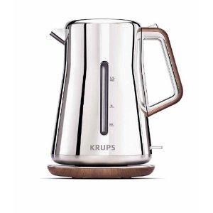Krups BW600 Silver Art Collection 2 Quart Kettle, Outside Water Level Indicator, 360 degree Rotational Base, Anti Scale Filter, Auto & Manual Shut Off