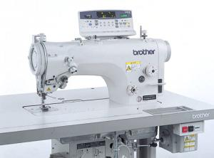 Brother Z8560A Electronic 10mm Zigzag Sewing Machine BZ8560A43101812612, ControlBox Panel FootLift ThreadTrim HookOil DirectDrive 5000SPM, Table&Legs