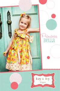Izzy & Ivy Designs Princess Bella Size: Girls 2T - 14 Pattern