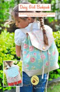 "Fig Tree Quilts FTQ931 Daisy Girl Backpack Pattern, Back pack size is 11""in x 13""in."