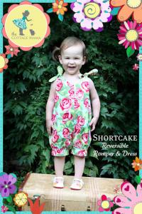 Cottage Mama CBP02 Shortcake Reversible Romper & Dress sz 6mo-6rs Pattern