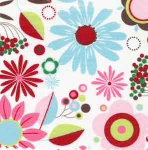 Fabric Finders  #1080 Chartreuse/Pink Floral 15 Yd Bolt 9.34 A Yd 100% Pima Cotton Fabric