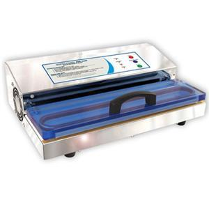 "Weston Pro 650201 Vacuum Sealer, Stainless Steel, Seals Bags up to 15"" Wide, Double Piston Vacuum Pump, See-Through Acrylic Lid, LED Lights"
