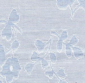 "Bear Threads Pique Jacquard Floral Blue 10Yd Bolt 100%  Swiss Cotton 60"" Wide"