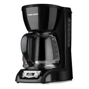 Black and Decker DLX1050B 12 Cup Coffee Brewer, Auto Shut-off, Programmable Clock, Control Panel, 110V AC, 975Watts of Power, Duralife Carafe, Filter