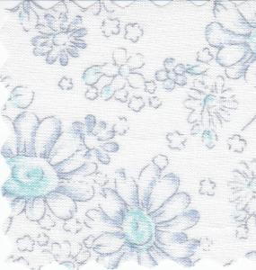 "Bear Threads Swiss Batiste Pastel Print Blue 10Yd Bolt 16.99 A Yd 100% Cotton 45"" Wide"