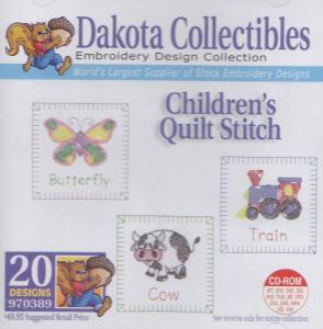 Dakota Collectibles 970389 Childrens Quilt Stitch Designs Multi-Form CD