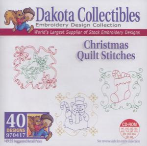 Dakota Collectibles 970417 Christmas Quilt Stitches Designs Multi-Form CD