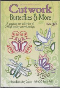 Dakota Collectibles 970404 Cutwork Butterflies & More Embroidery Designs Multi-Formatted CD