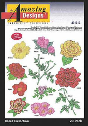 Amazing Designs 1310 Roses Collection I Embroidery Disks