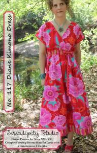 Serendipity Studio SDG117 Diane Kimono Pattern Size XXS-XXL