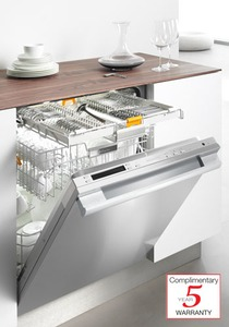 Miele G5975SCSF Dishwasher, Full-Size, Futura Diamond Series, Prefinished, Fully-Integrated