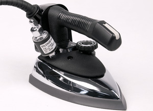 Goldstar GS-94A Commercial Gravity Feed Steam Iron 1000W 110V, Hot Iron Rest, 3 Prong Safety Plug on Power Cord