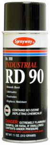 Sprayway, RD-90, Spray Lubricant, Use on Plastic or Metal, 16oz Cans, 12/Case