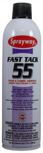 Sprayway, SW055, Fast Tack, Foam, and Fabric, Adhesive, Spray, FastTack, 13oz ounce Cans 12 cans per Case, Use to, Bond Fabric, to Most Foam, Metal, or Wood Surfaces, and To Itself