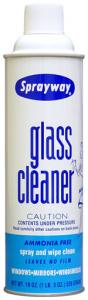 Sprayway SW050 Floral Foam Glass Cleaner, 20oz Spray Cans 12 Per Case