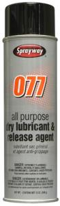 Spray, way, SW077, All, Purpose, Industrial, Dry, Lubricant, Release, Agent, 12 oz, Can, 12, Case, silicone, spray, stops, sticking, retards, corrosion, less, squeek