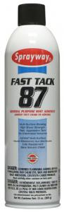Sprayway SW087 Fast Tack 87 Adhesive Mist Spray, Case of 12 x 20oz Cans