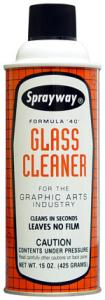 Sprayway SW040 Formula 40 Graphic Arts Glass Cleaner A40G, 16oz Cans 12/Case, No film or residue, Cleans in seconds, No ammonia, No streaks or scratches