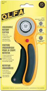 Olfa RTY-2/DX 45mm Handheld Rotary Cutter, Fabric and Cloth Cutting Tool