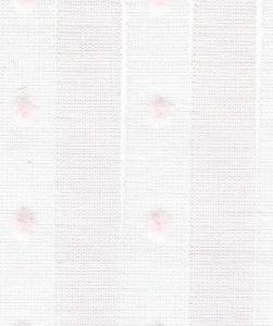 "Bear Threads Swiss Voile Stripe Dotted Swiss Pink 10 Yd Bolt  38.99 A Yd 100% Cotton 63"" Wide"
