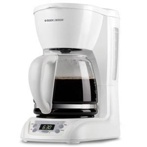 Black and Decker DLX1050W 12 Cup Coffee Maker Brewer, Auto Shut-off, Clock, Control Panel, 110V AC, 975Watts of Power, Duralife Carafe, Filter DLX1050W